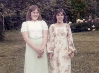 Nancy and I on our 8th grade graduation day.