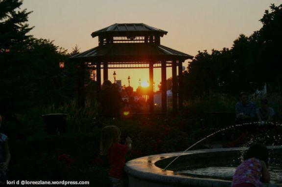 village sunset wm